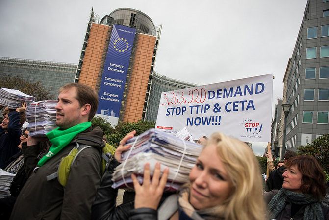 TTIPing the balance: campaigners deliver millions of signatures to the Commission in Brussels today