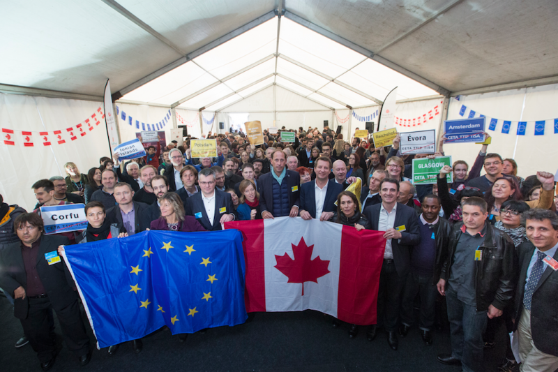 300 elected officials & civil society leaders from Europe & Canada joined in opposition to CETA at the European Parliament on October 20